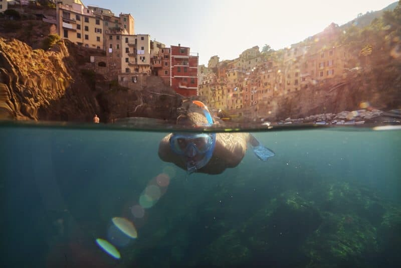 Snorkelling in Riomaggiore, Italy