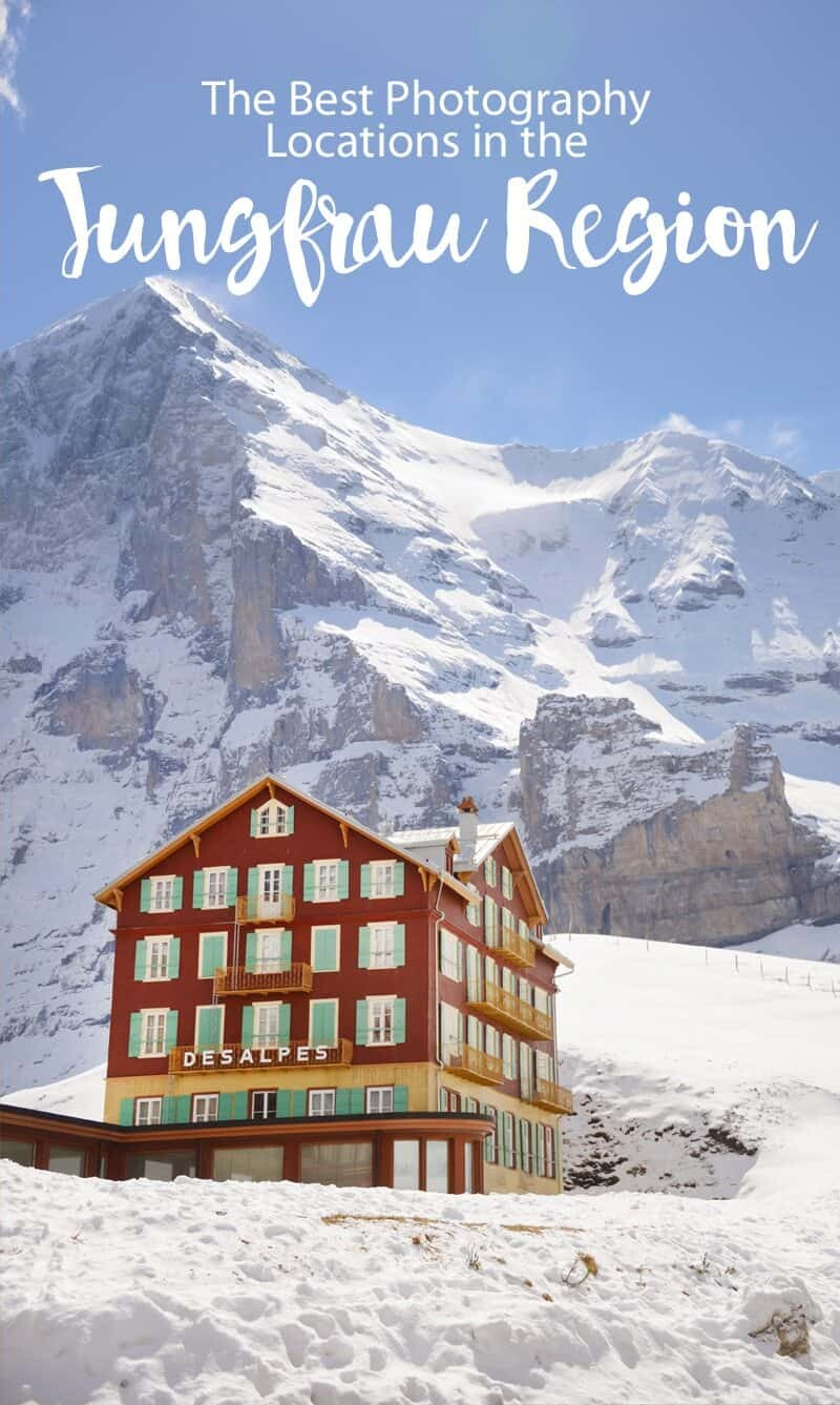 Jungfrau Pinterest Photo for The Wandering Lens guide to photo locations in Jungfrau, Switzerland