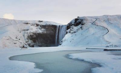 Skogafoss Waterfall in winter, Iceland travel by The Wandering Lens