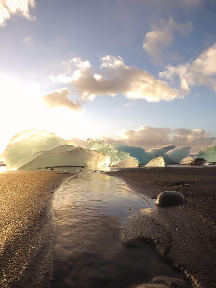 Jokulsarlon Glacier Lagoon Iceland and Diamond Beach Photos - Iceland Photography