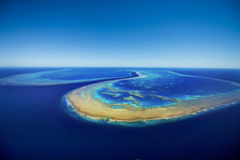 Hardy Reef, photographed from 1000ft...my favourite photo of the Great Barrier Reef!