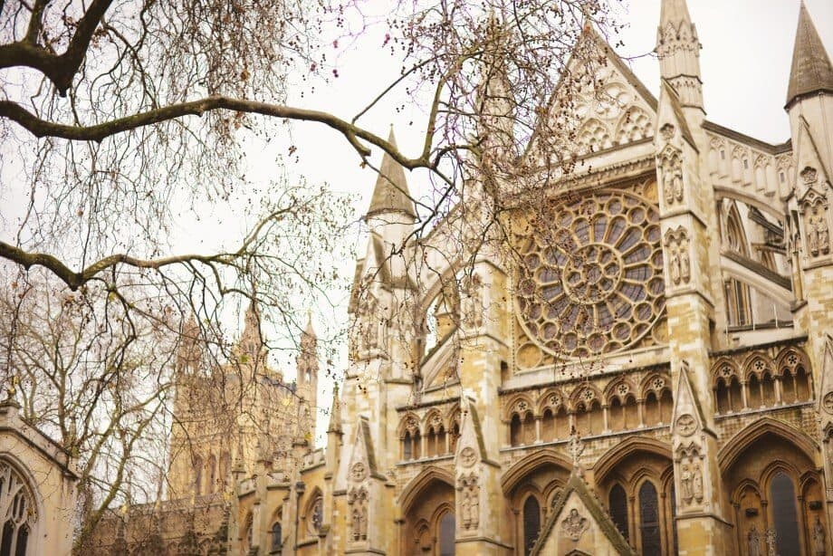 The facade of Westminster Abbey, a building I visit every time I'm in London...you can't miss it.