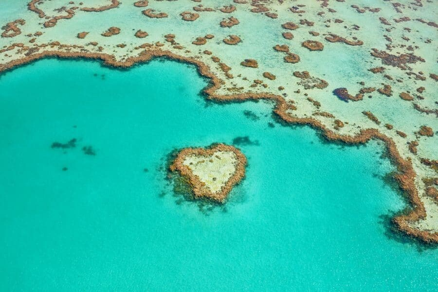 Heart Reef, Great Barrier Reef, Whitsunday Islands, Australia
