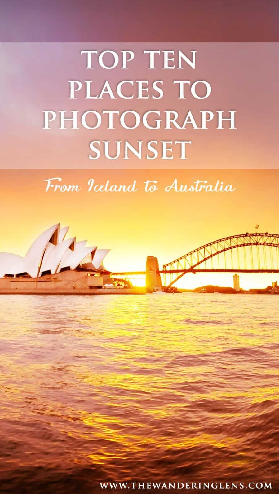 Places to photograph sunset around the world