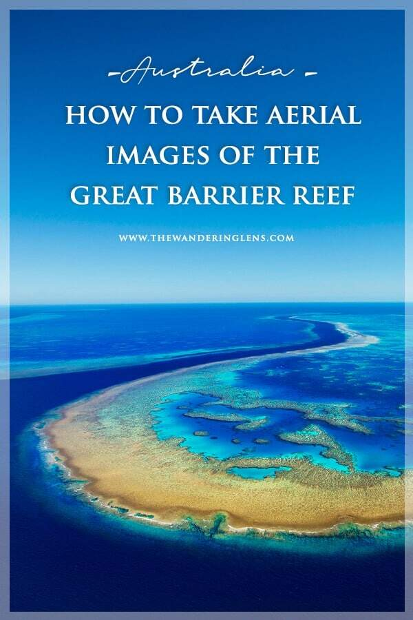 Great Barrier Reef aerial helicopter photos in the Whitsundays