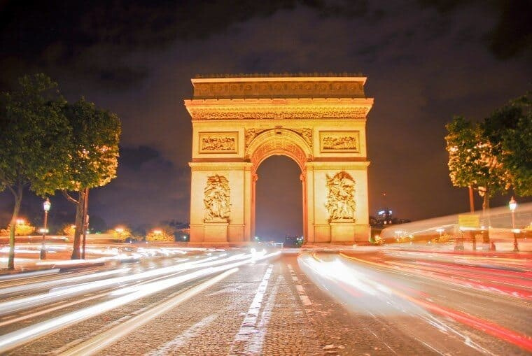Arc de Triomphe and The Champs Elysees