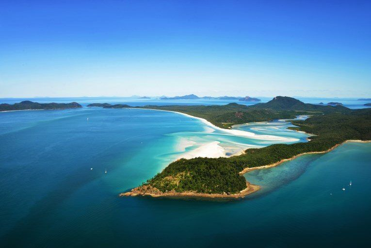 A wide angle landscape photograph of Whitehaven Beach...see below for the unique perspective of this same landscape.