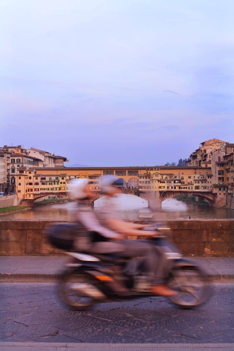 This shot was taken by balancing the camera on a bridge in Florence. www.thewanderinglens.com