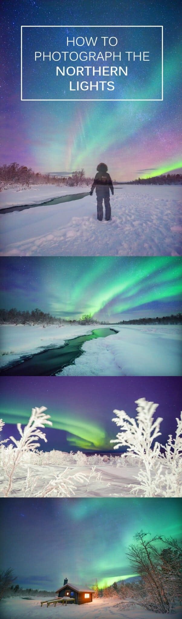 How To Photograph The Northern Lights by professional photography, Lisa Michele Burns of The Wandering Lens