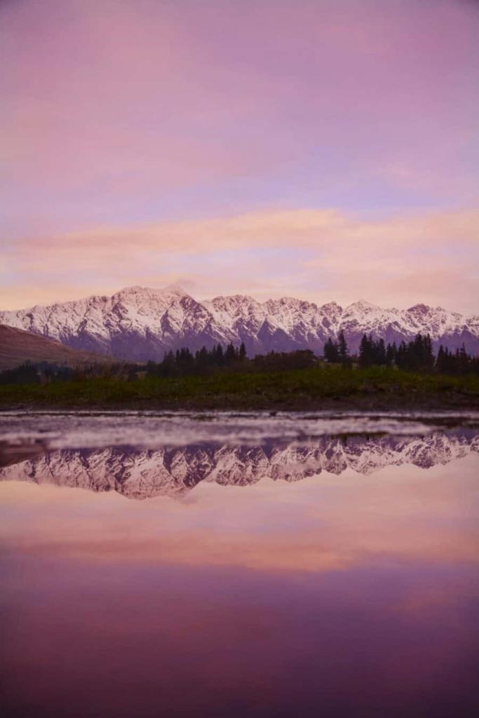 Photographing reflections in Queenstown, New Zealand