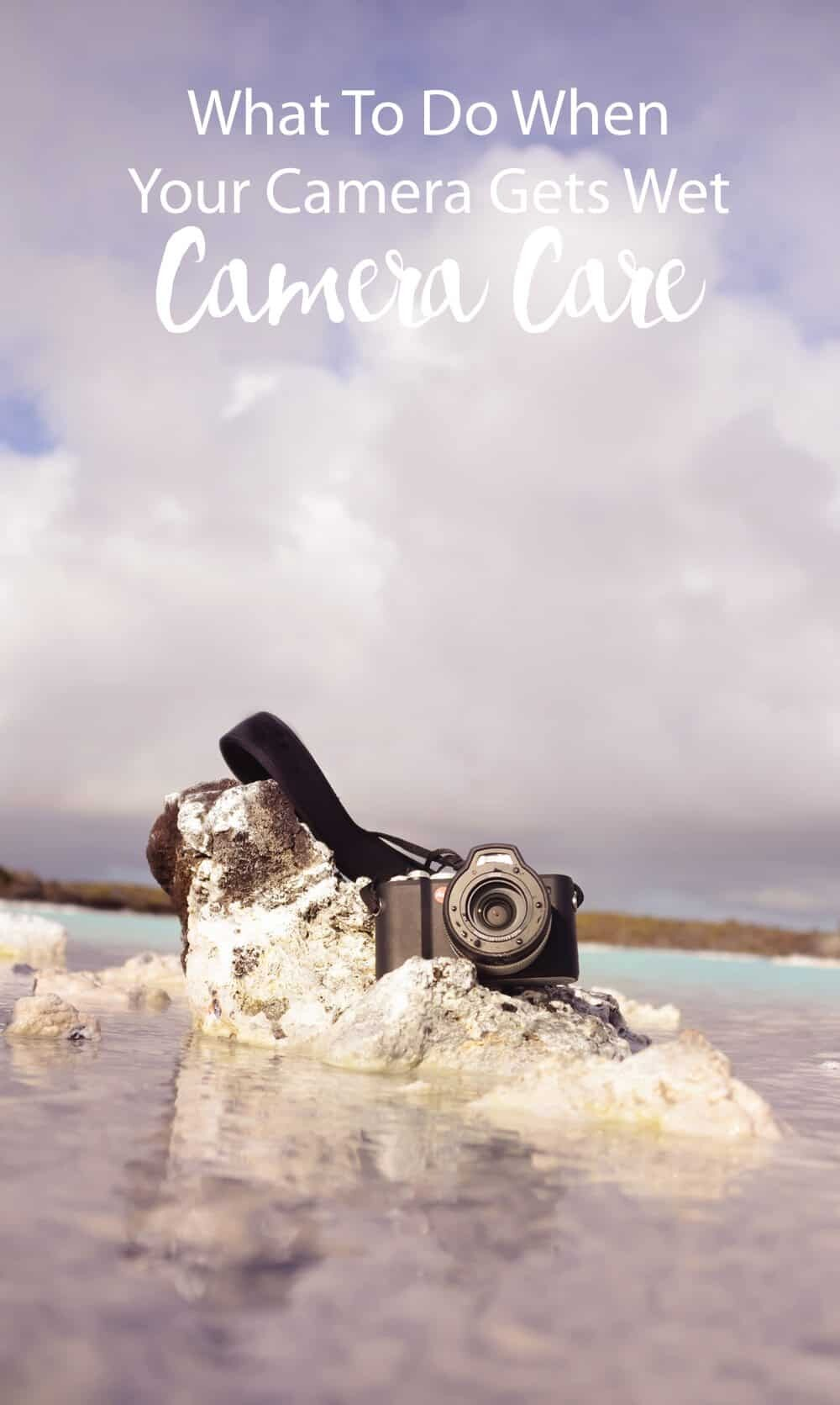 What to do when your camera gets wet - a step by step guide by The Wandering Lens