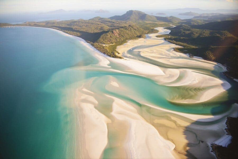 Whitehaven Beach photography location, Whitsundays, Australia.
