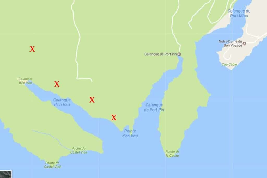 Map of Cassis Calanques France The Wandering Lens Travel