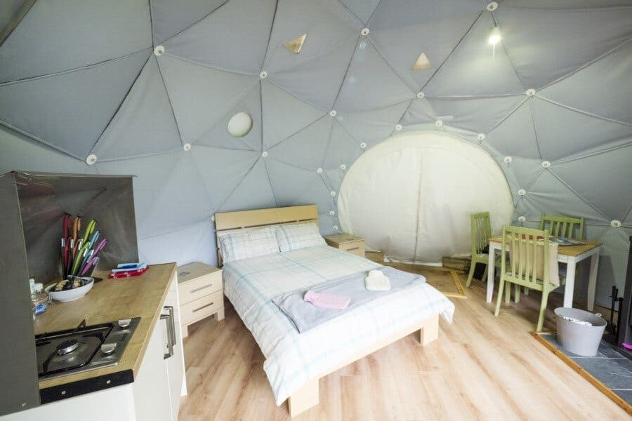 Geodome glamping in Loch Ness, Scotland