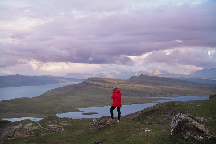 Hiking the Old Man of Storr, Isle of Skye
