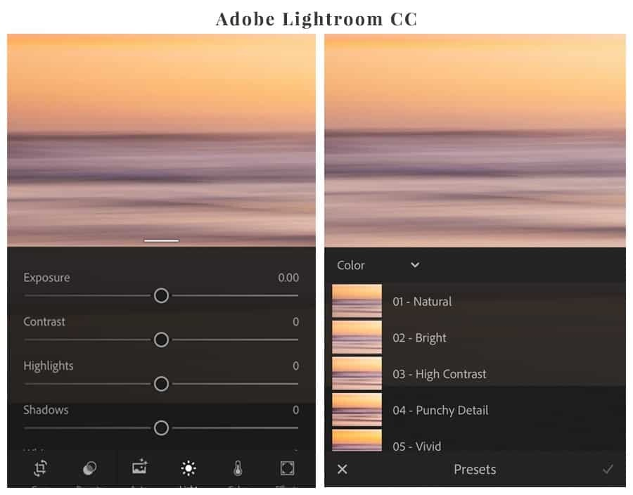 The best editing apps for your phone - Lightroom CC