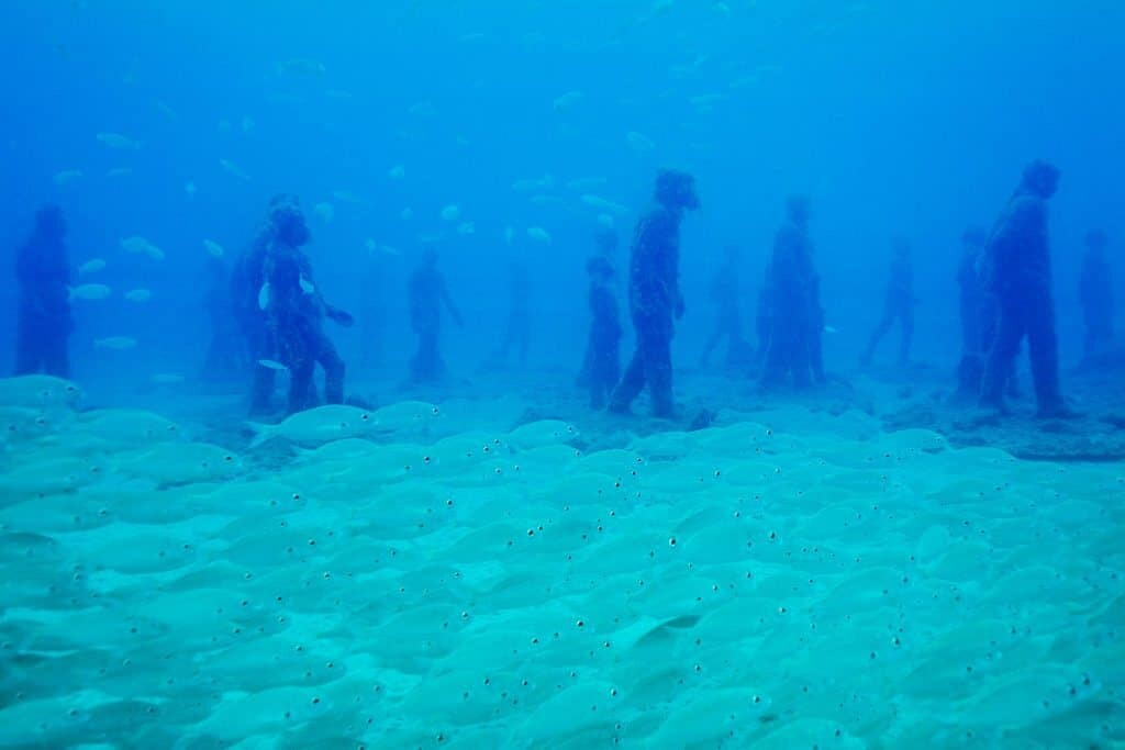 Diving Europe's underwater museum, the Museo Atlantico in Lanzarote, Spain