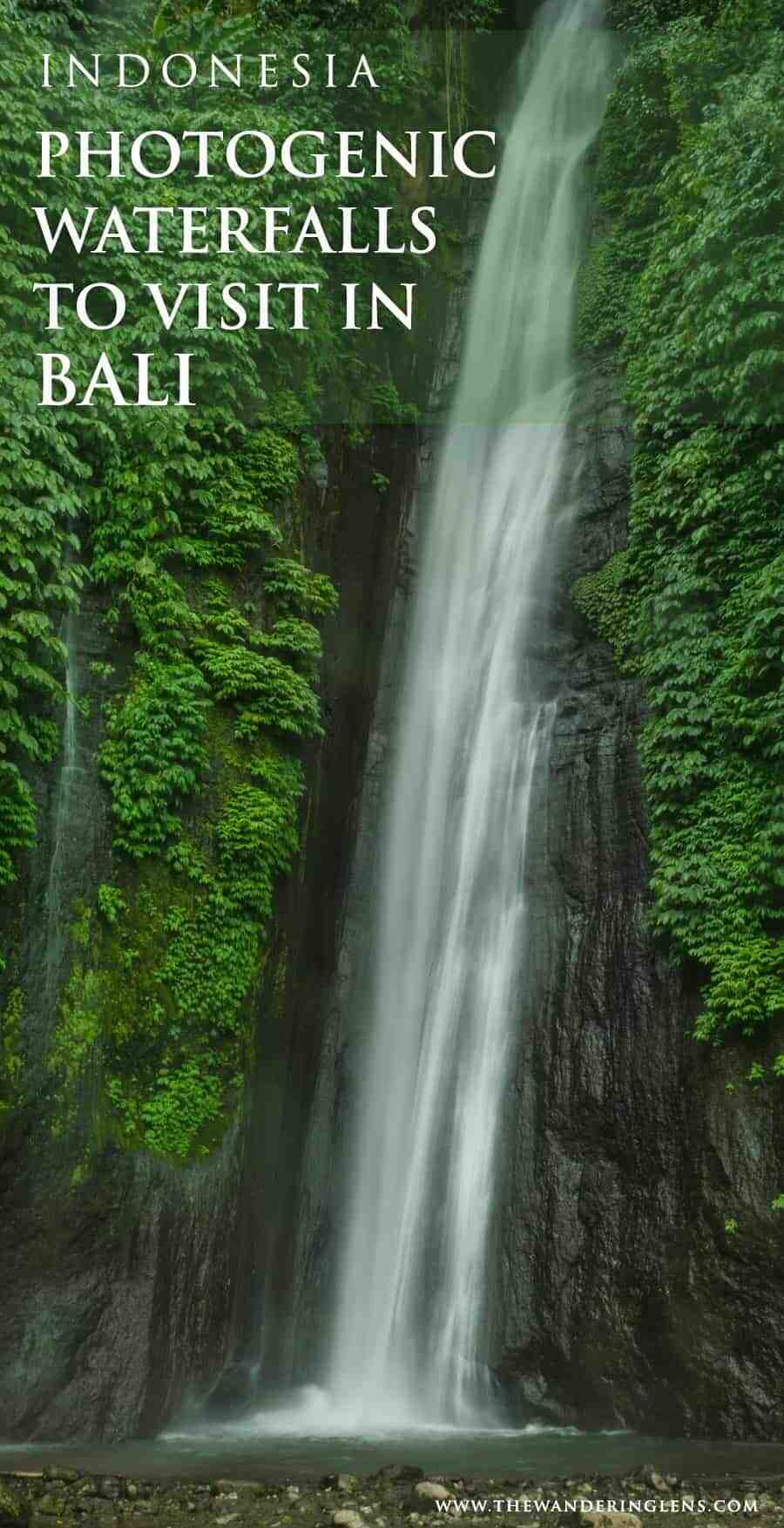 Photogenic waterfalls to visit in Bali, Indonesia. A guide to some of the most beautiful waterfalls located in the north of Bali, just a two hours drive from Ubud.