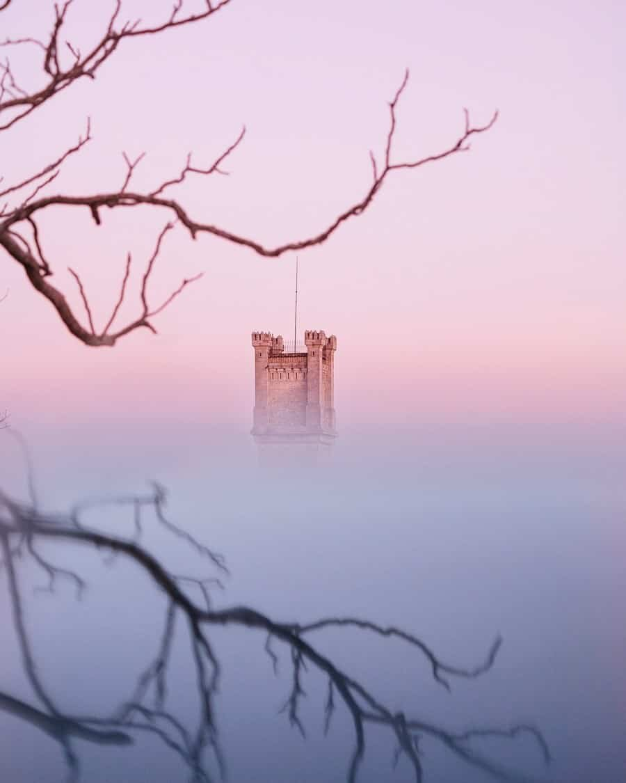 Creating Reflections - Provence, France Castle