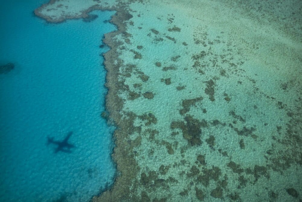 Air Whitsunday seaplane and the Great Barrier Reef, Whitsundays of Queensland, Australia