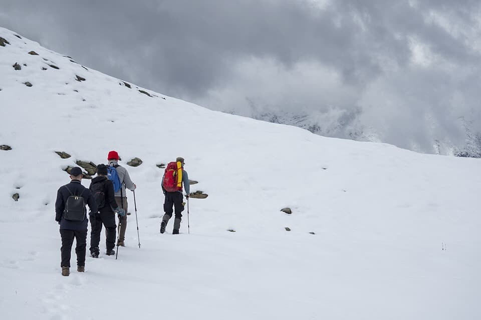 Hiking from Purcell Mountain Lodge, Golden, British Columbia.
