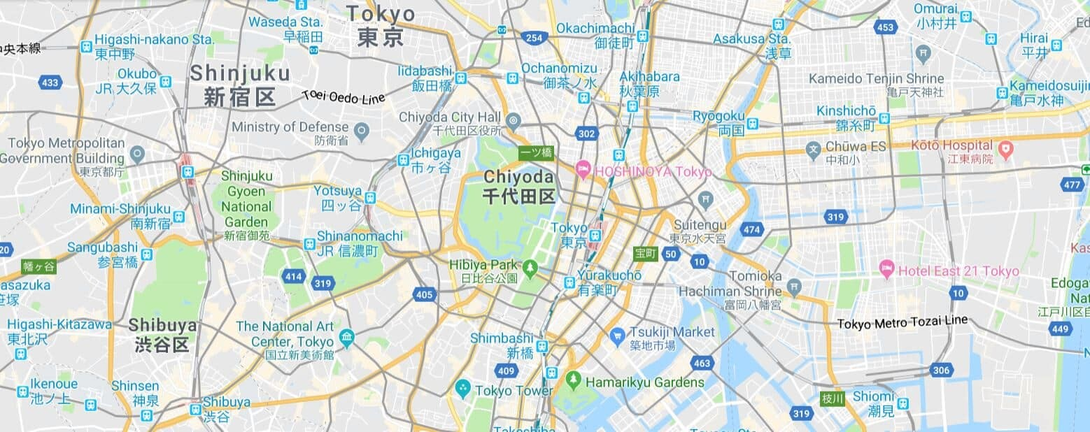 MAP - Tokyo Photo Spots