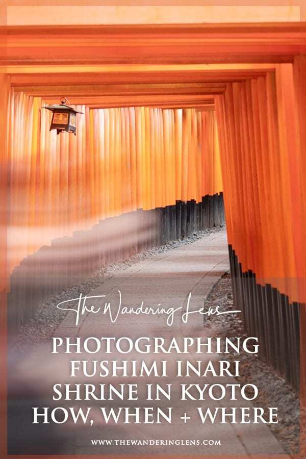 Fushimi Inari Shrine Kyoto - When to visit and how to take great photos of the torii gates