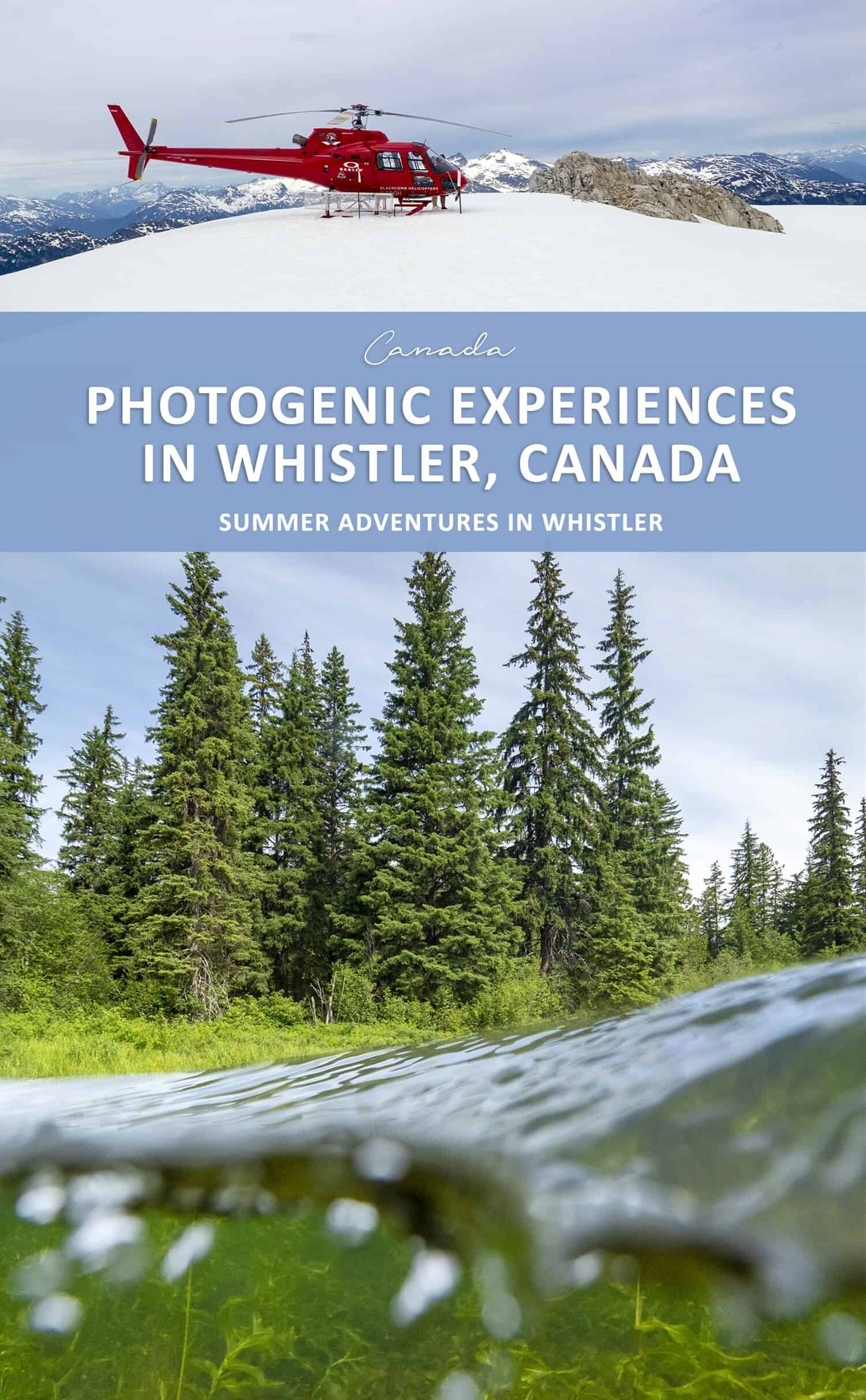 Whistler Photography Locations and Experiences