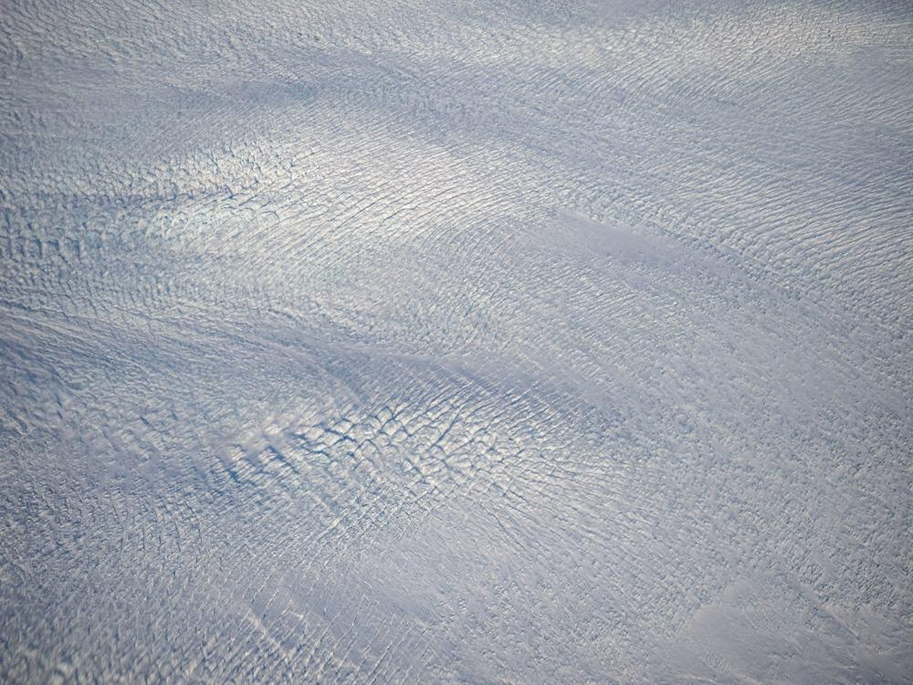 Flight to Greenland - Flying over the Greenland Ice Cap