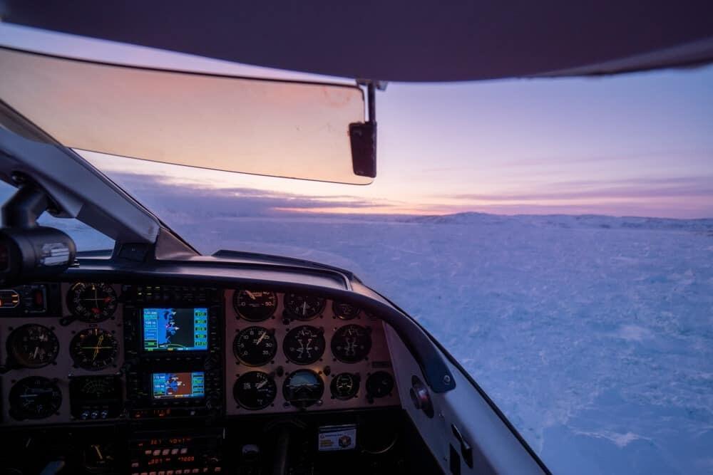 Greenland glacier scenic flight, Ilulissat