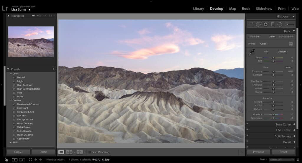 Editing Pastels in Lightroom