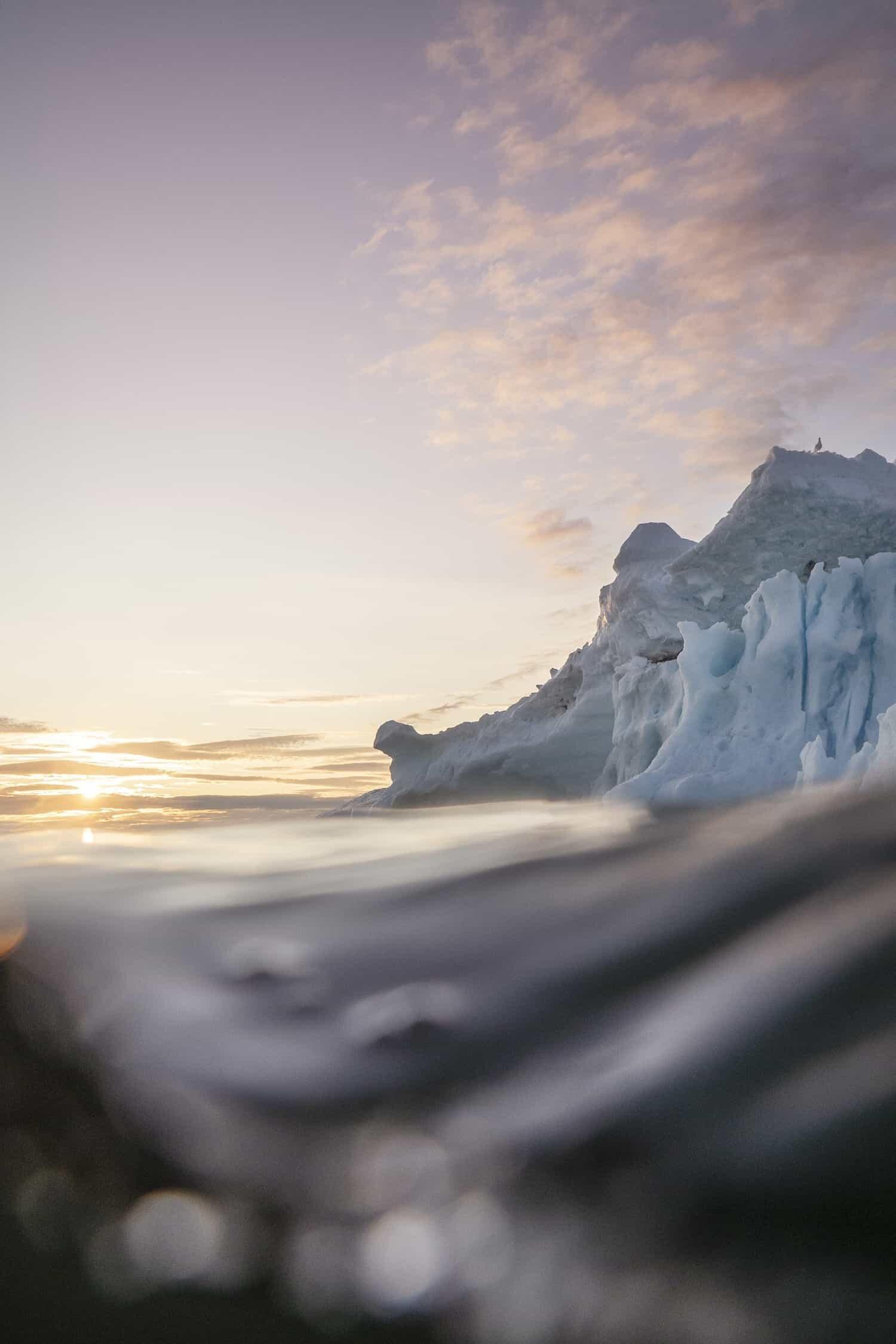 Underwater Photograph of Icebergs - Ilulissat, Greenland